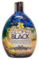 ALOHA BLACK 200X Double Dark Bronzer Indoor / Outdoor Tanning Lotion Brown Sugar