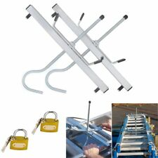 Universal Heavy Duty Ladder Roof Rack Clamp Clamps Lockable Free Locks Ladders