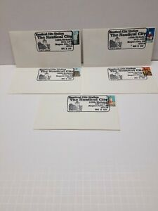 Lot Of 5 Covers Rogers City Michigan 1996 Lighthouse Stamps