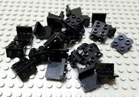 LEGO Lot of 25 Black 1x2 - 2x2 Space Creator Classic Bracket Pieces