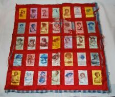New listing Antique Tobacco Silks Quilt Cigarette Silks 35 Actresses Printed Autographs