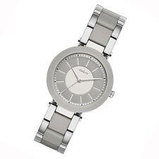 DKNY Dress grau Keramik Quarz Uhr modische 3 Zeiger Damenuhr runde Uhr NY2462