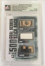 2012-13 ITG Ultimate /24 Lafleur Bossy Perrault Stick Rack SP