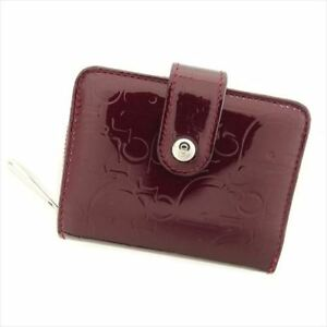 Dior Coin Purse Enamel leather Red Woman Authentic Used T7752