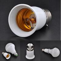 White Bayonet BC B22 To Edison Screw ES E27 Adaptor Lamp Bulb Converter Holder