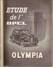 REVUE TECHNIQUE AUTOMOBILE 80 RTA 1952 OPEL OLYMPIA BOITE WILSON TYPE 10