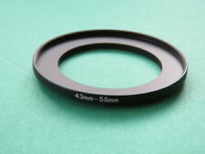 43mm-58mm 43-58 Stepping Step Up Male-Female Filter Ring Adapter 43mm-58mm