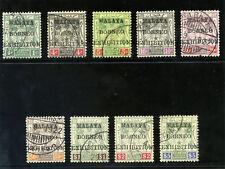 Malaya Jap Occ-Kelantan 1922 KGV Borneo Exhibition set complete VFU. SG 30-38.