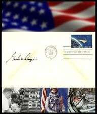 Gordon Cooper Autographed First Day Cover With 'Project Mercury' Postage Stamp