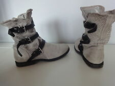 schöne A.S.98 Boots Stiefel High As.98 Airstep Leder Grey grau used Look 39 top