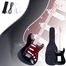 New Brand ST3 Black Electric Guitar +Strap +Cord +Gig Bag +Picks for Beginner