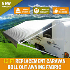 NEW 13 Ft Awning PVC Vinyl / Fabric Replacement Caravan Roll Out Awning Carefree
