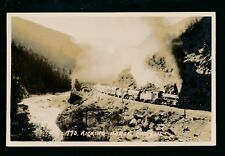 Canada KICKING HORSE CANYON railway x2 locos with train RP PPC by Ron Harmon