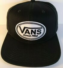 Vans Classic Since 1966 Snapback Hat Cap Black One Size Flat Bill NWT Patch