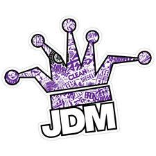 JDM CLOWN CROWN BOMB PURPLE JDM Car Sticker Decal Drift Jap Car  #0680EN