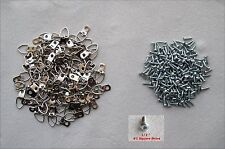 Lot of 1000 One-Hole Triangle D-Ring Frame Picture Mirror Hangers w/ 1000 Screws