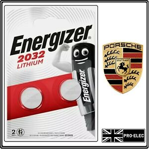x2 ENERGIZER CR2032 KEY FOB BATTERY FOR PORSCHE MACAN FREE P&P
