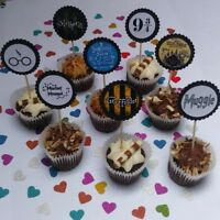 Harry Potter cupcake toppers - Party decorations - Cake toppers - Birthday