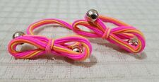 ELASTIC PONYTAIL HOLDER WITH GOLD ACCENT NEON PINK YELLOW ORANGE ACCESSORY