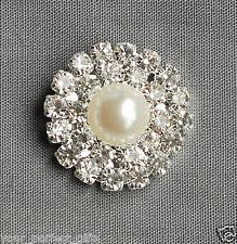 10 Round Circle Rhinestone Crystal Pearl Button Buckle