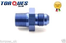 "AN -6 (JIC6) to 1/4"" NPT Straight Facet Red / Blue Top Fuel Pump Adapter"