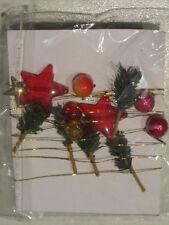 Filo in metallo oro con stelline rami abete perline rosse x Natale e festa