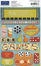 Karen Foster FAMILY FUN NIGHT Games Scrapbook Stickers