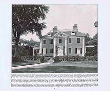 Poet Longfellow's House -Cambridge Mass - 1894 Vintage Lithograph