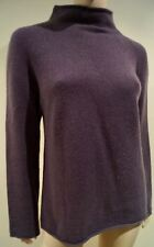 PAUL SMITH WOMEN Plum Brown 100% Cashmere High Neck Jumper Top M