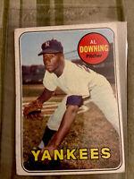 1969 Topps Baseball AL DOWNING Card #292 New York Yankees EX+