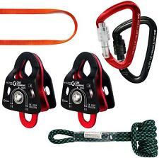 New ListingGm Climbing Hardware Kit for 5:1 Mechanical Advantage Pulley Hauling Dragging Sy