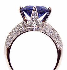 Argento Sterling Tanzanite E Diamante Anello 6.1 KT (925) confezione regalo gratuito
