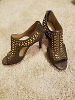 """Womens heels, size 8 new leather 3"""" heels, Vaneli bronze brown heels"""