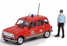 Voiture de Pompiers Renault 4 TL SDIS 79 avec Figurine 1/43 ELIGOR