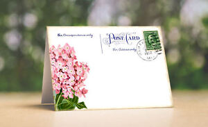 HYDRANGEA POSTCARD TENT STYLE WEDDING PLACE CARDS or TABLE CARDS #540