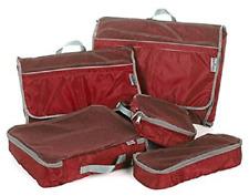 NIB TravelSmith Smart Pack Organizers 5-piece Kit ~ Red