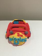 Wiggle Red Car Cake Topper fondant Baby birthday cakes  toppers 3D Edible