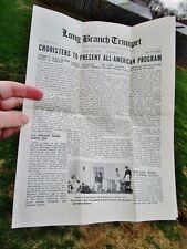 1945 Long Branch High School Student Newspaper WWII Era: TRUMPET, Long Branch NJ