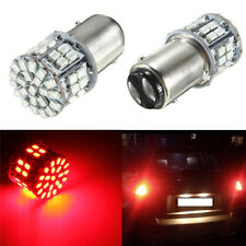2x Bright RED 1157 BAY15D 50 LED 1206 SMD 3W 12V Car Stop Brake Tail Lights Bulb