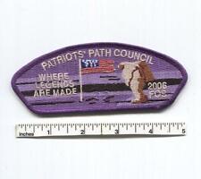 2006 FOS / SSP Patriot's Path Council - Where Legends are Made