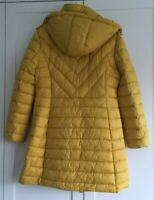 BNWT JOULES ELODIE LONG SIZE 18 OCHRE ANTIQUE GOLD HOODED PADDED COAT RRP £99.99