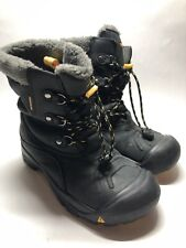 Keen Black Waterproof 200 Gram Insulation Snow Boots - Big Kid 5, Women's 6.5