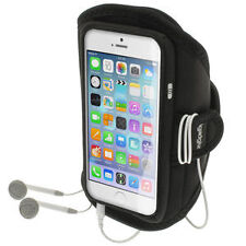 iGadgitz Water Resistant Black Sports Jogging Gym Armband for Apple iPhone 6 6s