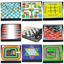 Fold belt Portable10 in 1 game Chess Checkers Backgammon Snake & Chess Ludo