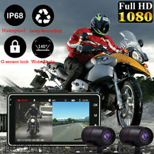 Dual Lens Motorcycle DVR Dash Cam Front Rear Video Recorder Camcorder G-sensor