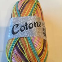 Lana Grossa Cotone Print Cotton Multi Colors Yarn  Scarf Sweater Knit Crochet