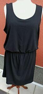 Sweat Shirt Kleid Longtop Tunika Strand Sommer Urlaub Ärmellos schwarz Gr48. Neu