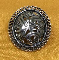 Vintage Beau 925 Sterling Silver Brooch Pin Fine Jewelry