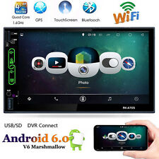 "7 "" 2DIN Android 6.0 HD Stereo Mp3 Player FM RADIO AV WIFI GPS NAVIGATORE NUOVO"
