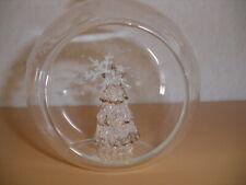 Tannenbaum Hänger GRACIA Weiß Tannenbaumkugel 3er Set Glas 9-13 Weihnachtsdeko